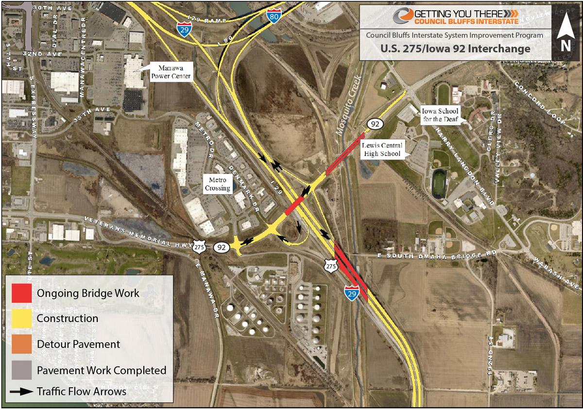 Current Conditions U S 275 Iowa 92 Interchange