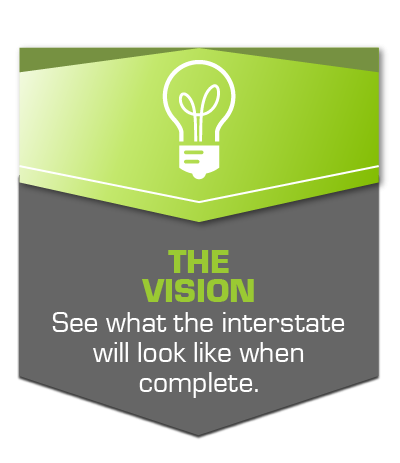 The Vision: See what the interstate will look like at the completion of the program.